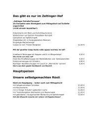 Speisekarte - Zeltinger Hof