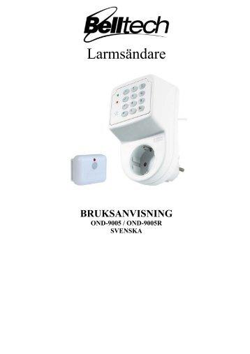 Bruksanvisning Svenska - Ondico