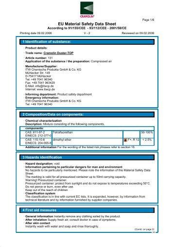 EU Material Safety Data Sheet - Technolasa