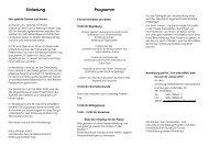 Einladung Programm - Schleswig-Holstein-Tag