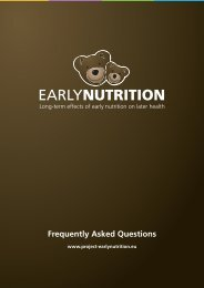 Frequently Asked Questions - EarlyNutrition