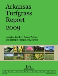 Arkansas Turfgrass Report 2009 - Agricultural Communication ...