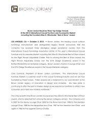 October 2, 2012 Brown Jordan Receives Three Top Design Awards