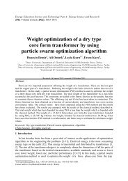 Weight optimization of a dry type core form transformer by using ...