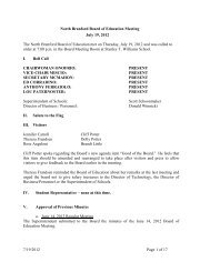 North Branford Board of Education Meeting July 19, 2012 The North ...
