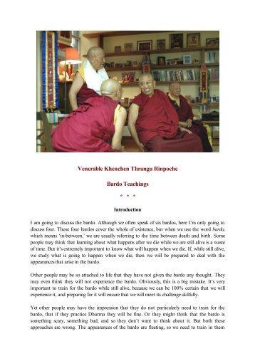 Bardo Teachings - Kagyu-muenster.de