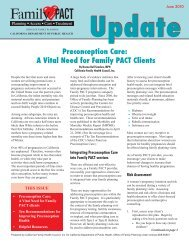 Preconception Care: A Vital Need for Family PACT Clients (PDF)