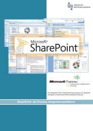 SharePoint als Prozess-Integrationsplattform - in-integrierte ...