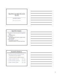 Algorithms and Data Structures CS 372 Algorithm Analysis ...