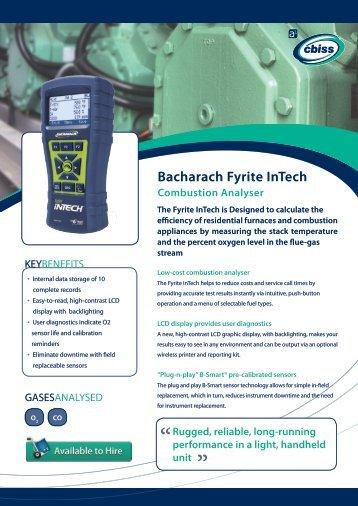 Bacharach Fyrite InTech Datasheet - A1 Cbiss