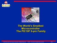 The World's Smallest Microcontroller The PIC10F 6-pin ... - Microchip