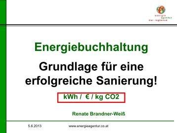 Energiebuchhaltung Grundlage für eine erfolgreiche Sanierung!