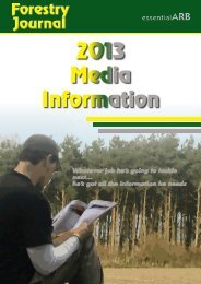2013 Media Information - Forestry Journal