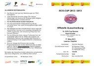 SCO-CUP 2012 / 2013 Offizielle Ausschreibung