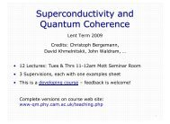 Superconductivity and Quantum Coherence