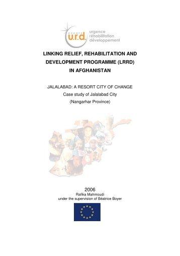 """Survey """"Jalalabad: a resort town of change"""" - Groupe URD"""