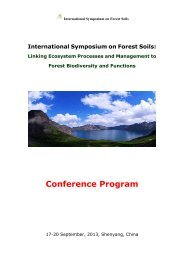 International Symposium on Forest Soils
