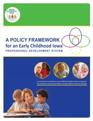 ECI Professional Development Framework - Iowa AEYC