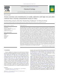 Arsenic retention and remobilization in muddy sediments with high ...