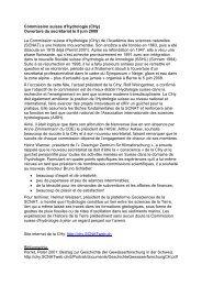 Rapport sur l'ouverture du secrétariat - SCNATweb