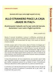 ALLO STRANIERO PIACE LA CASA «MADE IN ITALY» - Aspesi
