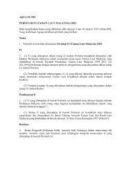 AKTA FI 1951 - Jabatan Taman Laut Malaysia