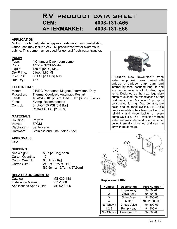 Shurflo Rv Water Pump Wiring Diagram | Wiring Library