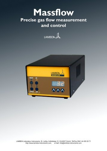 LAMBDA MASSFLOW gas flow controller - Lambda Laboratory ...