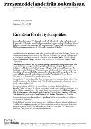 En mässa för det tyska språket - Bok & Bibliotek