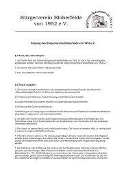 Satzung des Bürgervereins Bloherfelde von 1952 e.V.