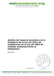 Análisis del impacto económico en la Hostelería de la Ley 42/2010 ...