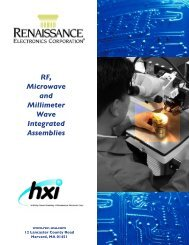 Integrated Assemblies - Renaissance Electronics Corporation