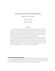 Leadership and Group Decision-Making. - The University of Chicago ...