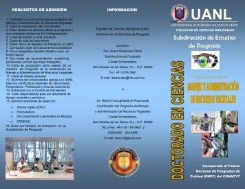 Subdirección de Estudios de Posgrado - Facultad de Ciencias ...