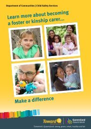 Foster and kinship carers... make a difference - Department of ...