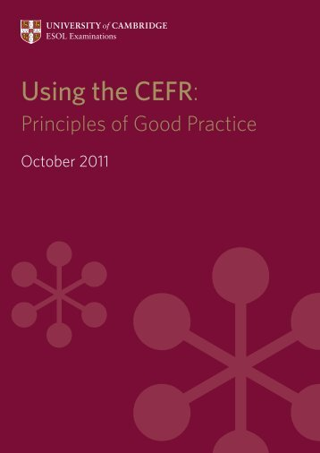 Using the CEFR: Principles of Good Practice - Finchpark