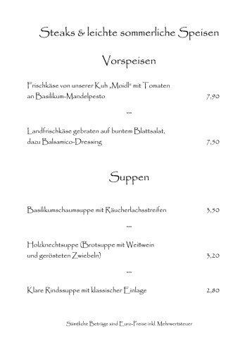 zur aktuellen Monatsspeisekarte (pdf Format) - Gasthof Pension St ...