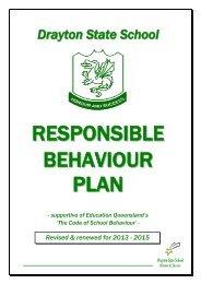 Responsible Behaviour Plan - Drayton State School - Education ...