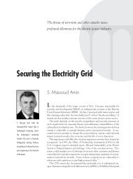 Securing the Electricity Grid - Technological Leadership Institute ...