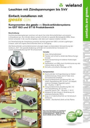 KUNDENINFORM ATION - Wieland Electric