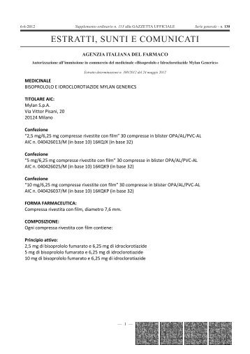 ESTRATTI, SUNTI E COMUNICATI - Gazzette.info