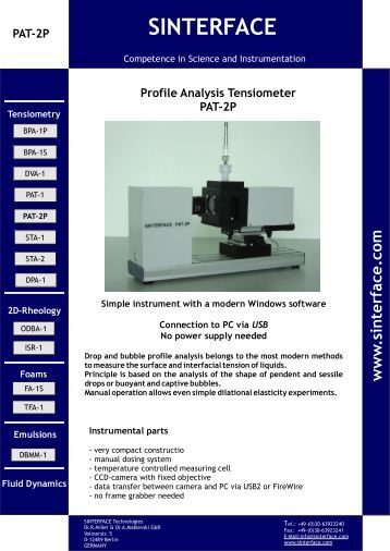 Information PAT 2P USB (*.pdf) 826 kB - SINTERFACE
