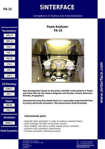 Information FA 1S (*.pdf) 835 kB - SINTERFACE