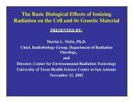 Basic Radiation Biology