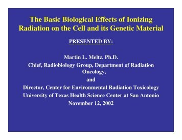 OVERVIEW OF BASIC RADIATION PHYSICS, CHEMISTRY, AND BIOLOGY
