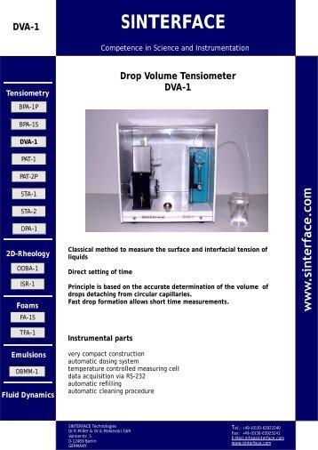 Information DVA 1 (*.pdf) 418 kB - SINTERFACE