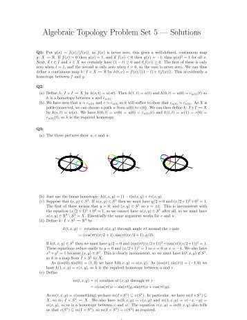 Algebraic Topology Problem Set 5 — Solutions - Strickland, Neil