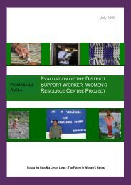 Evaluation of the District Support Worker -Women's ... - Fokus