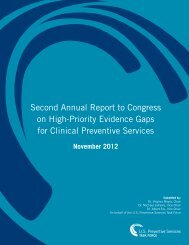 Second Annual Report to Congress on High-Priority Evidence Gaps ...