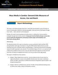 Report Methodology - AudienceScapes